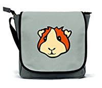 Guinea Pig Messenger Bag/Satchel | Grey | Waterproof Canvas | By Paw Prints