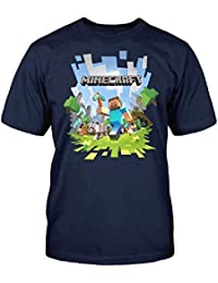 Minecraft Boys Run away Short Sleeve T-Shirt Top Age 7-8,9-10,11-12,13-14 Years