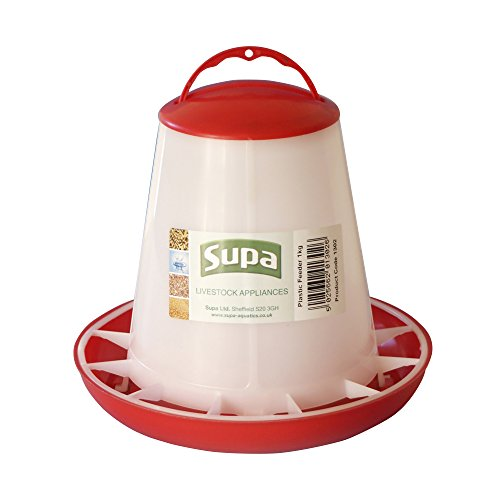 Supa - Mangeoire - Volaille (1kg) (Blanc/Rouge)