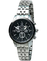 Skone 7145-lady-1 Analog Black Dial Stainless Steel Strap Wrist Watch / Casual Watch - For Women