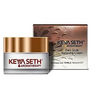 Keya Seth Aromatherapy Dark Circle Removing Under Eye Cream – Vitamin C, Niacinamide, Alpha Arbutin & AHA Reduces Wrinkles, Fine lines, Dullness & Depuffing for Men & Women