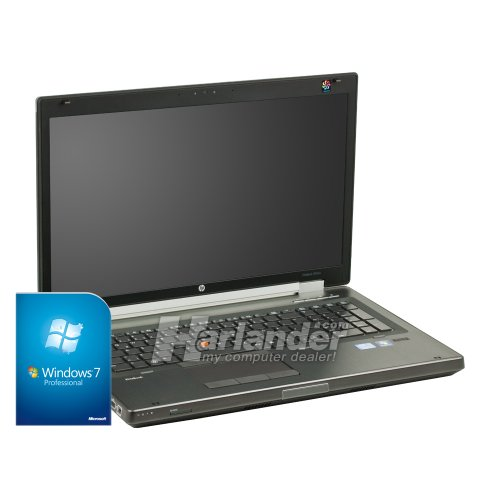 HP EliteBook 8760w Mobile Workstation 17,3 Zoll Notebook (Core i7 2.3GHz, 8GB RAM, 500GB HDD, DVD-RW, Quadro 4000, Win 7)