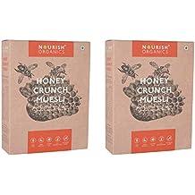 Nourish Organics Honey Crunch Muesli, 300g Pack of 2
