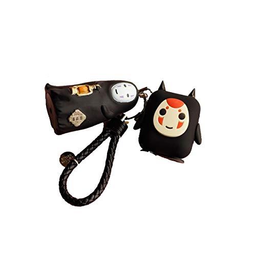 Airpods schutzhülle cartoon puppe anti-verlorene silikon drahtlose bluetooth headset anime dünne schale (Design : B) Anime-headset