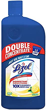 Lizol Double Concentrate Disinfectant Floor Cleaner Citrus, 900ml