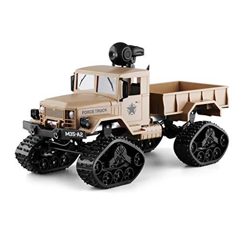 Momola Ferngesteuerte Baufahrzeuge für Kinder,M35-A2 4WD 2.4G WiFi FPV LKW 720P Kamera RTR Fahrzeug Crawler Offroad,Modell Ferngesteuertes Auto Echtzeit Übertragung 33,8 x 13,5 x 14,7 cm (Khaki)