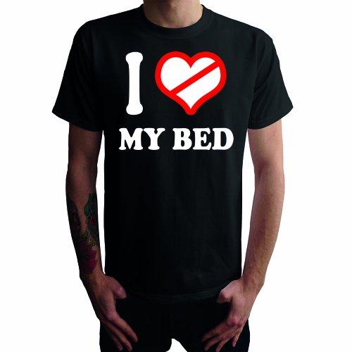 I don't love my Bed Herren T-Shirt Schwarz
