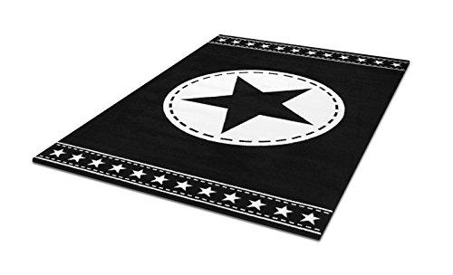 jugendzimmer teppich schwarz weiss mit exklusivem stern teppiche m ko tex geeignet auch f rs. Black Bedroom Furniture Sets. Home Design Ideas