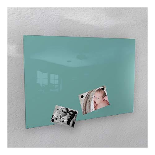 agnetwand - türkis licht-grün glänzend * RAL 6027 * Hochglanz - 4 Verschiedene Größen - 40 x 60 cm ; 50 x 80 cm ; 60 x 90 cm ; 50 x 110 cm - (60 x 90 cm) ()