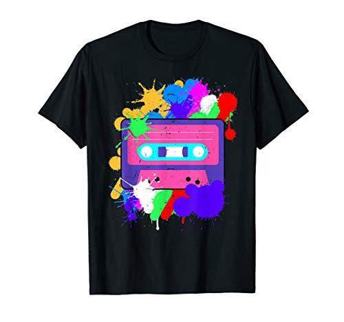 Jahre 90er Kostüm Cooler - Kassette - 80er 90er Jahre Party Kostüm - Retro T-Shirt