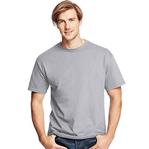Herren TAGLESS ComfortSoft Crewneck T-Shirt_Licht Stahl_XL (Stahl-crewneck)