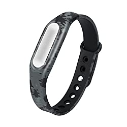 Saihui Camouflage Pattern Strap Wristband Bracelet Replacement For Xiaomi Mi Band 1s (C)