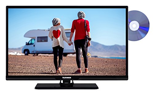 fernseher mit integriertem dvd Telefunken XH24D101VD 61 cm (24 Zoll) Fernseher (HD Ready, Triple Tuner, DVD-Player, 12 V)