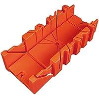Caja de inglete de sujeción oblicua multiusos Caja de sierra de ángulo diferente Herramienta de corte de madera de sierra trasera ajustable para cortar madera - Naranja 290 * 90 * 50mm