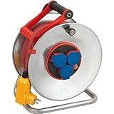 Brennenstuhl Kabeltrommel Garant S Bretec FI IP44 3-fach 40m H07RN-F 3G1,5 Kabelfarbe rot