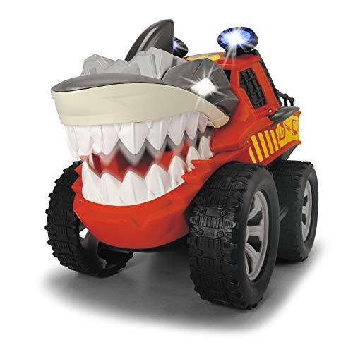 Dickie Toys 203765005 Shaking Shark 203765005-Shaking, motorisiertes Fahrzeug mit Licht-& Soundfunktion, 30 cm, rot