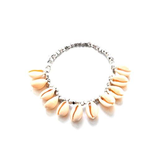 OULII Bracciale Cavigliera argento con pendenti Conchiglie per Regalo di Festa della Mamma