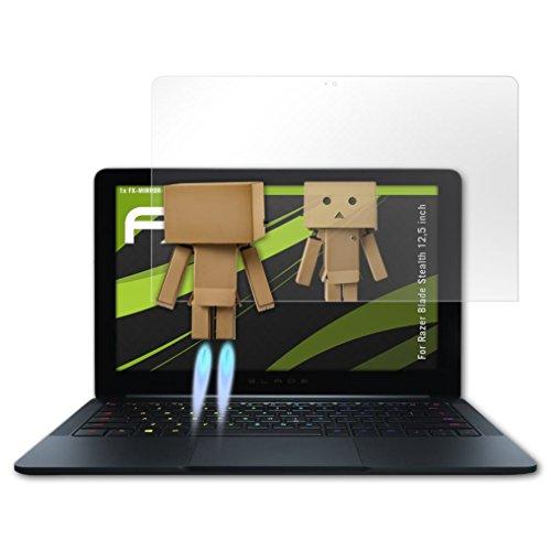 atFolix Bildschirmfolie kompatibel mit Razer Blade Stealth 12,5 inch Spiegelfolie, Spiegeleffekt FX Schutzfolie