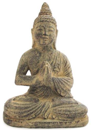 Wohnkult Thai Buddha Budda Tempelwächter Kopf 22 cm Figur aus Steinguss Feng Shui Stein Garten