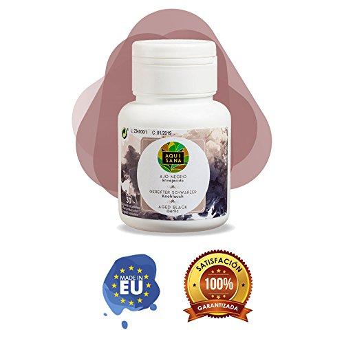 Foto de Ajo negro para aumentar nuestra energía diaria y mejorar nuestras defensas - Suplemento alimenticio de ajo negro con propiedades antioxidantes - Apto para veganos y vegetarianos- 30 cápsulas