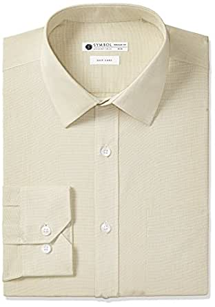 Symbol Men's Regular Fit Cotton Formal Shirt (AW17MFS24_40_Beige)