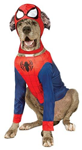 l Spider-Man Pet Kostüm, Größe XXL (Xxl Superhelden Kostüm Hund)