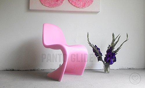Panto Glide Junior Filzgleiter Tagwerc – Panton Junior von vitra, Panton Stuhl von Verner Panton Kinderstuhl Panton Chair – Filz Freischwinger Möbelgleiter (weiss)