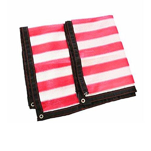 DUO Voiles d'ombrage Sun Shade tissu Rouge Rectangle Extérieure Tissu Tissu Pergola Couverture UV Bloc Tissu - Taille Personnalisée Disponible (Couleur : Red, taille : 5×9M)
