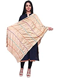 Anoma Semi Cotton Cream White Colour Dupatta For Womens & Girls