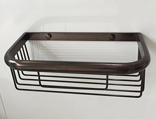 Mangeoo Cuivre rectangulaire ORB Salle de bains panier panier cosmétique de l'étagère 25 cm de long