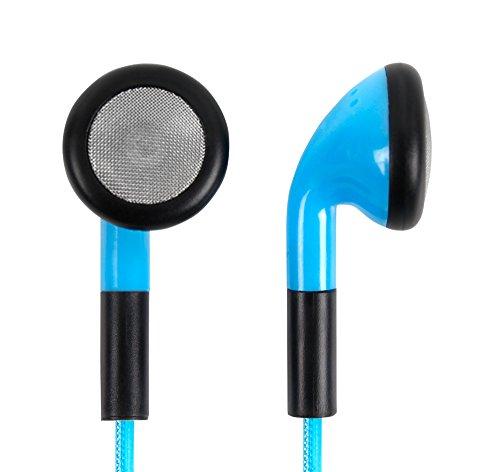 Preisvergleich Produktbild Für Ihr VR Headset HTC Vive | Sony PlayStation VR | Orange VR1 | HooToo HT-VR002 | UMI BOX 6 und LG 360VR Headset : Blaue in-ear Kopfhörer | Headphones | Ohrhörer | kraftvoller Stereo Sound, Volumenkontrolle, Mikrofon