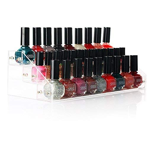 Porta trucchi in acrilico nail polish holder