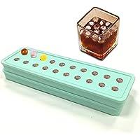 Set da 2 pezzi, in Silicone, 20 MINI muffin Stampo per sfere di ghiaccio, per cubetti di ghiaccio, con stampi a forma di cubetti di ghiaccio, caramelle DIY perline e biglie da caffè