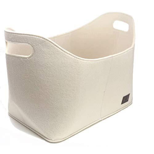 flamaroc - Premium Kaminholztasche aus Filz für Holz, Zeitungen, Kaminholz in anthrazit grau - Filztasche Maße 40 x 23 x 30 cm (Maße 40 x 23 x 30 cm, Sand)