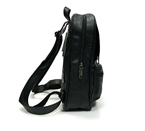 Herren-Leder-Rucksack Black
