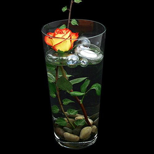 Glas Vase Konischer Zylinder klar. Höhe 30cm Ø 16cm. Klassische Form als Blumenvase oder Dekovase.
