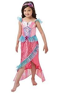 Rubies 620501S Disfraz de princesa de sirena oficial de lujo para niñas pequeñas, multicolor