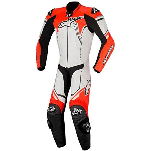Alpinestars Lederkombi (Alpinestars Lederkombi GP Plus Suit Einteiler weiß/schwarz/rot, 50)