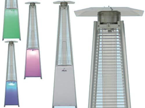 NIKLAS Estufa Gas Pirámide Totem LED multicromatico