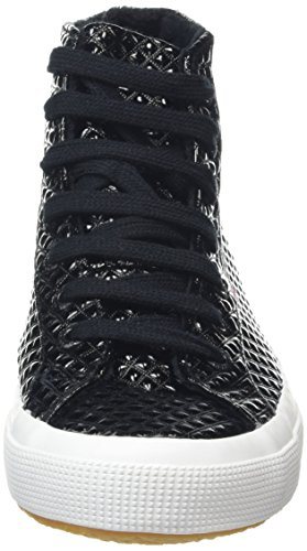 Superga Unisex-Erwachsene 2750 Quiltpatentw Sneaker Schwarz (Black Gold)