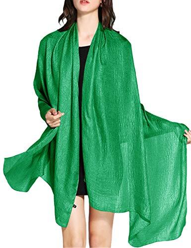 WedTrend Hochwertig Schlicht Flachs Stola Schal für Kleider in verschiedenen Farben WTC30002 Green 190 * 100cm