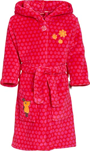 Playshoes Mädchen Fleece Maus Pink Bademantel, Rosa (Original 900), 74/80
