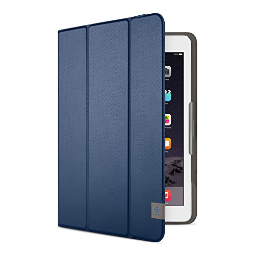 Belkin Universal Trifold Schutzhülle (für Tablets, Apple iPad Air, iPad Air 2, iPad 2017, Samsung Galaxy Tab A (10 Zoll), S2 (10 Zoll)) dunkelblau