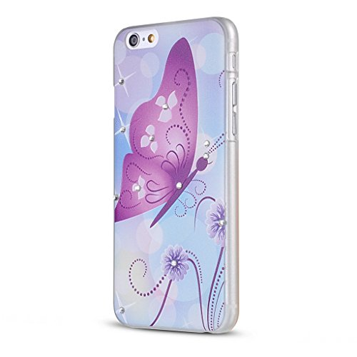 UKDANDANWEI Apple iPhone 5S Hülle Case - Bling Strass Ultra Dünn Hart PC Hülle Glitzer Rückseite Slim Etui Schale für Apple iPhone 5S -27 Bling-14