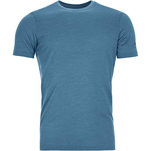 Ortovox Herren 150 Cool Clean T-Shirt, Blue Sea, S - Resistent S/s Shirt