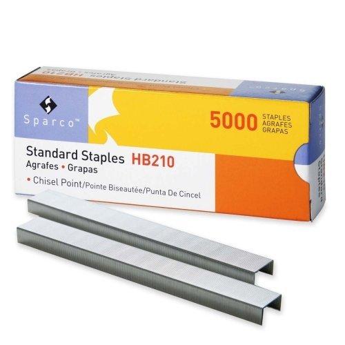 sparco-standard-staple-210-per-strip-025-leg-050-crown-chisel-point-5000-box-by-sparco