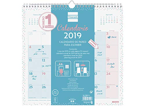 Calendario de pared 2019 español
