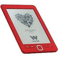 "Woxter E-Book Scriba 195 Red - Lector de libros electrónicos 6"" HD (800x600)(E-Ink Pearl pantalla más blanca), color Rojo"