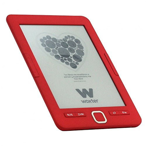 Woxter Scriba 195 E-Book-Reader, Display mit 15,24 cm (6 Zoll), 4 GB, E-Ink, Rot