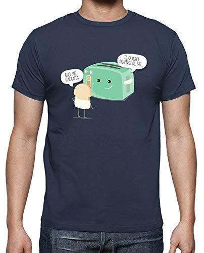 latostadora - Camiseta Tostadora Atrevida para Hombre Denim 3XL
